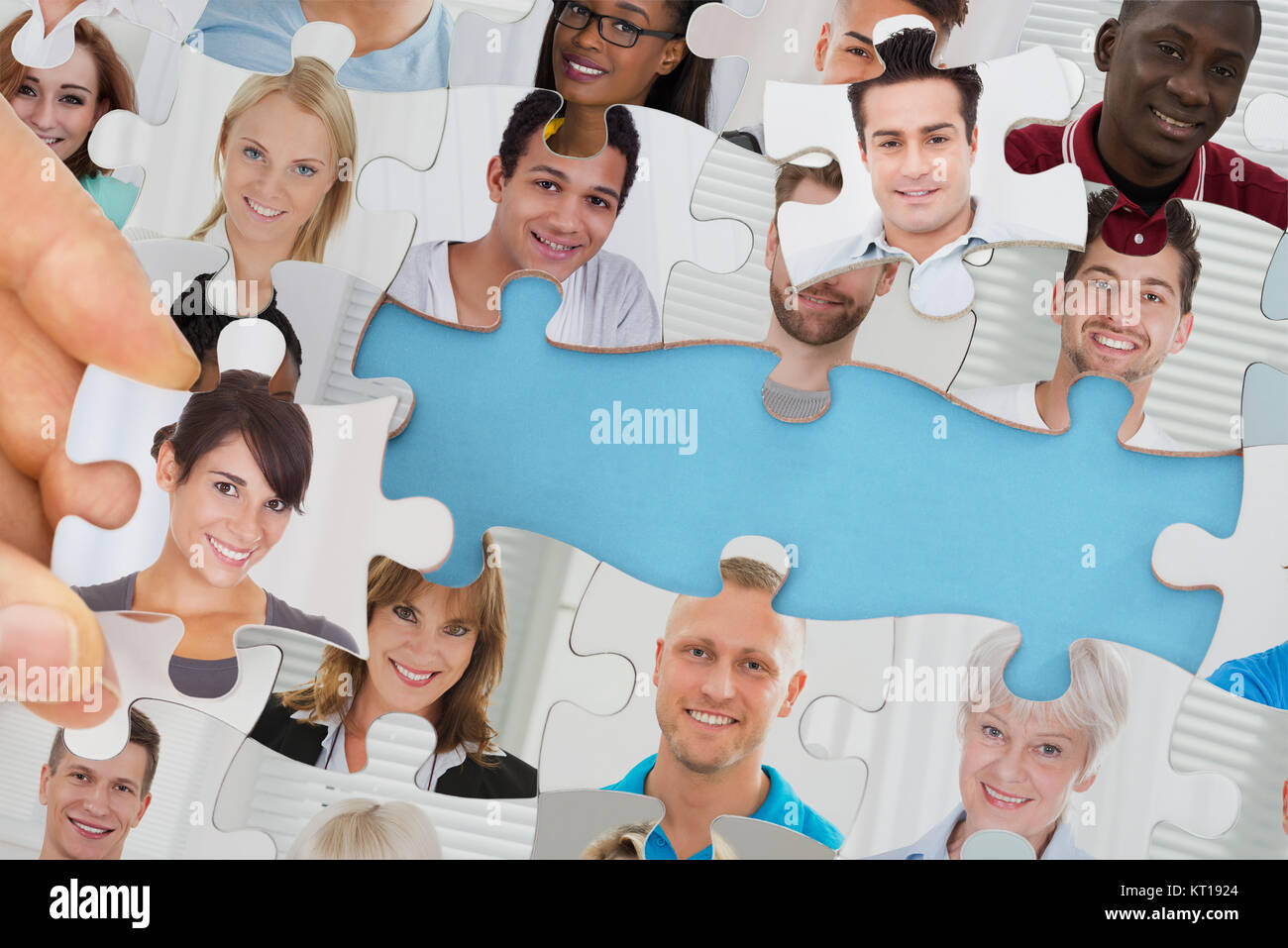 Big Data Text Under Jig Saw Puzzle Stock Photo