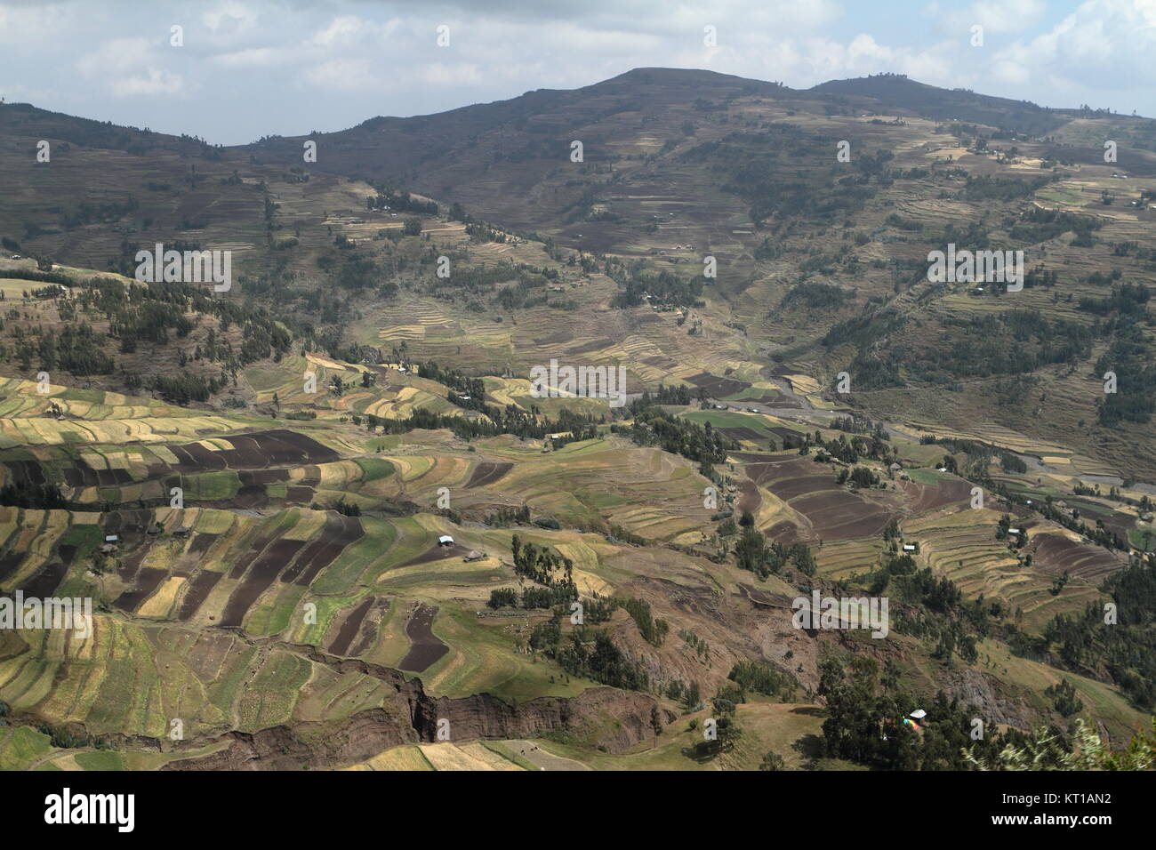 the landscape at lalibella in ethiopia - Stock Image