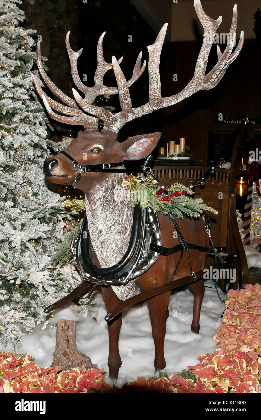 Christmas Decorations Deer,   USA - Stock Image