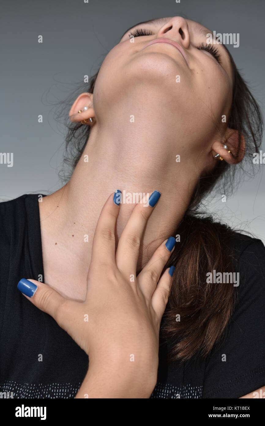 Stressful Teen Girl Stock Photo