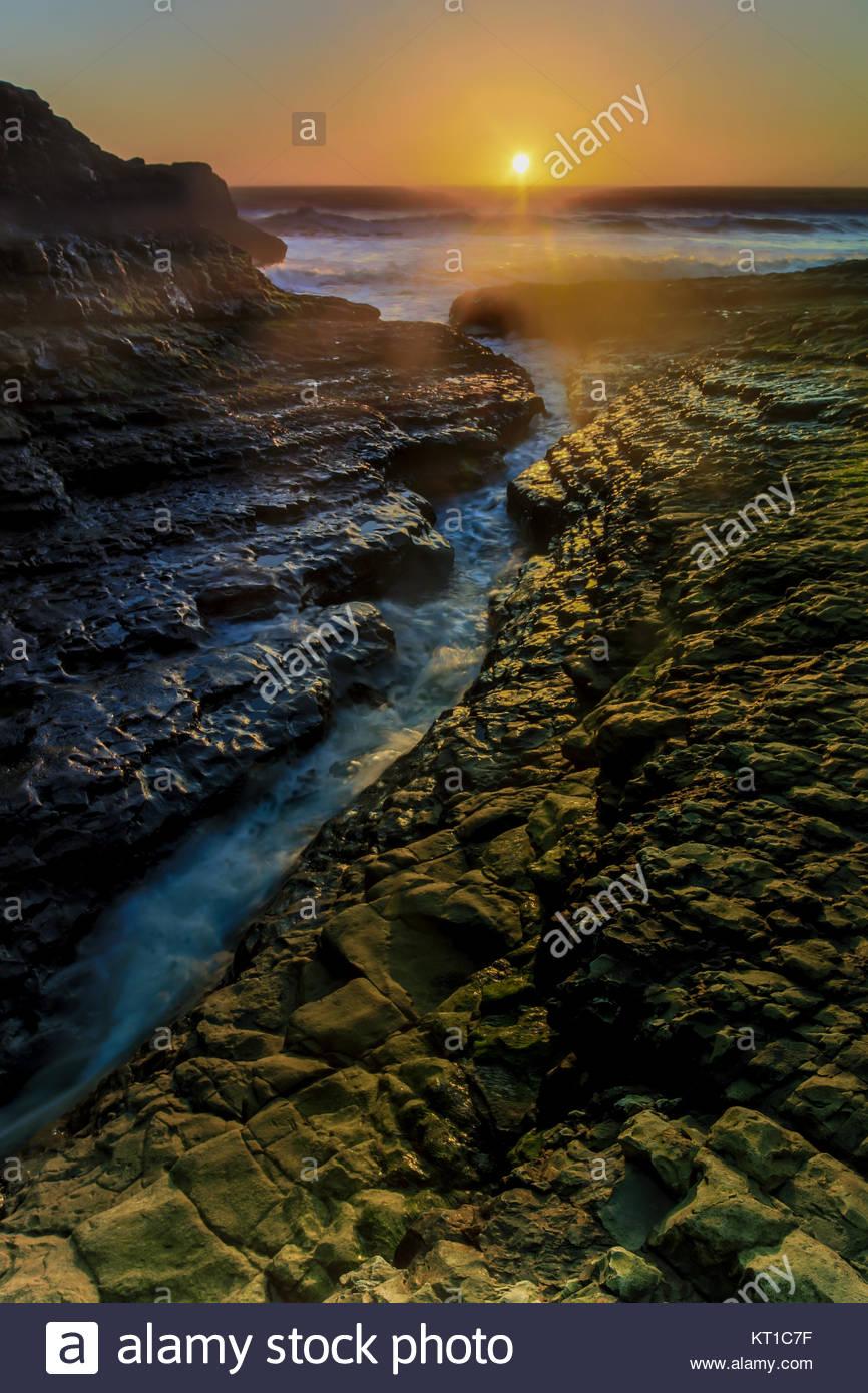 Davenport Crack Sunset - Stock Image