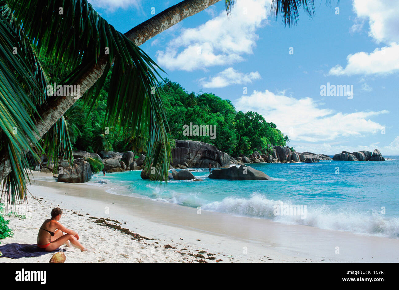 Takamaka-Beach,  Mahe island, Seychelles - Stock Image