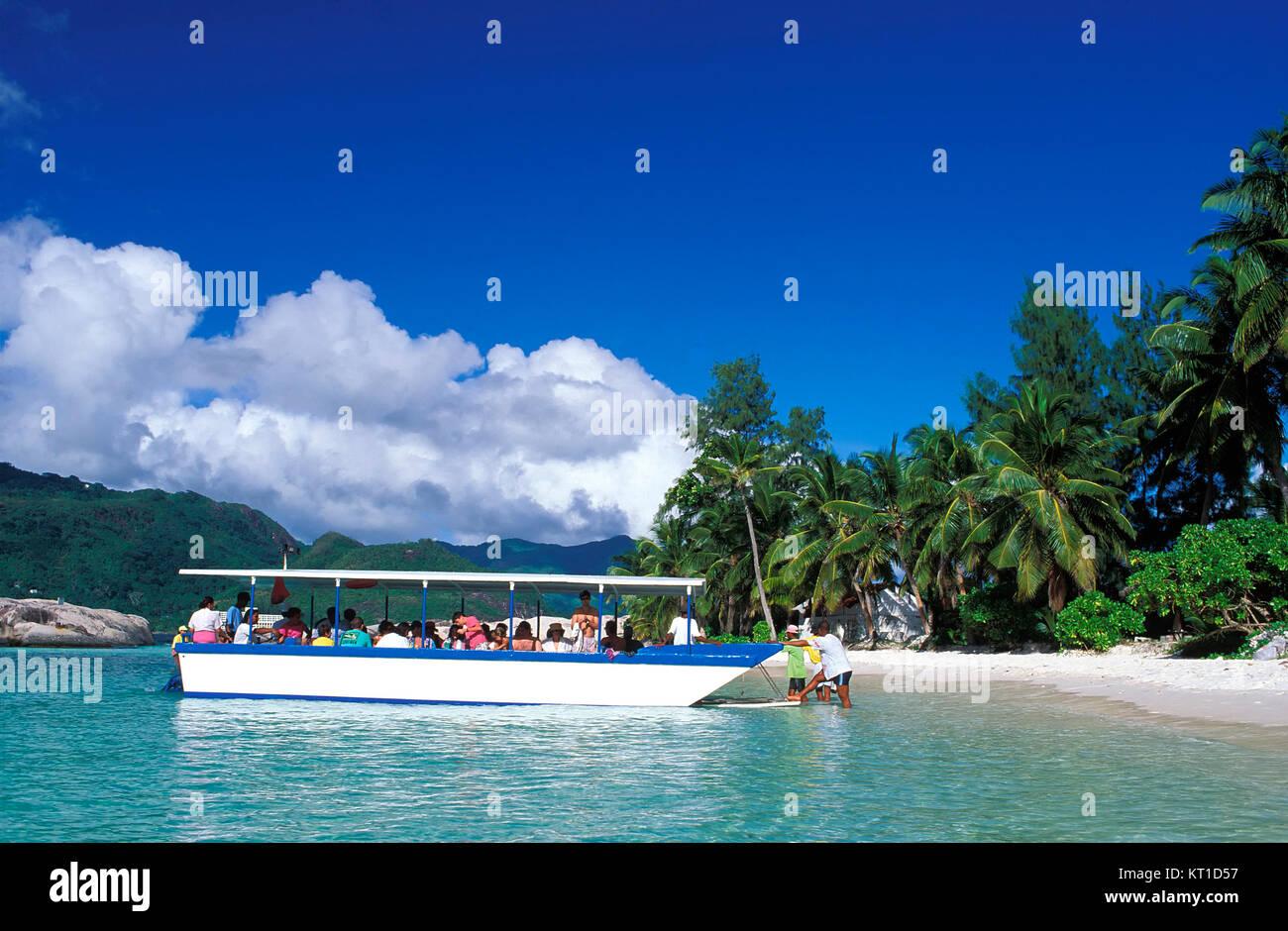 Boat-Tript to Therese island, Mahe island, Seychelles - Stock Image