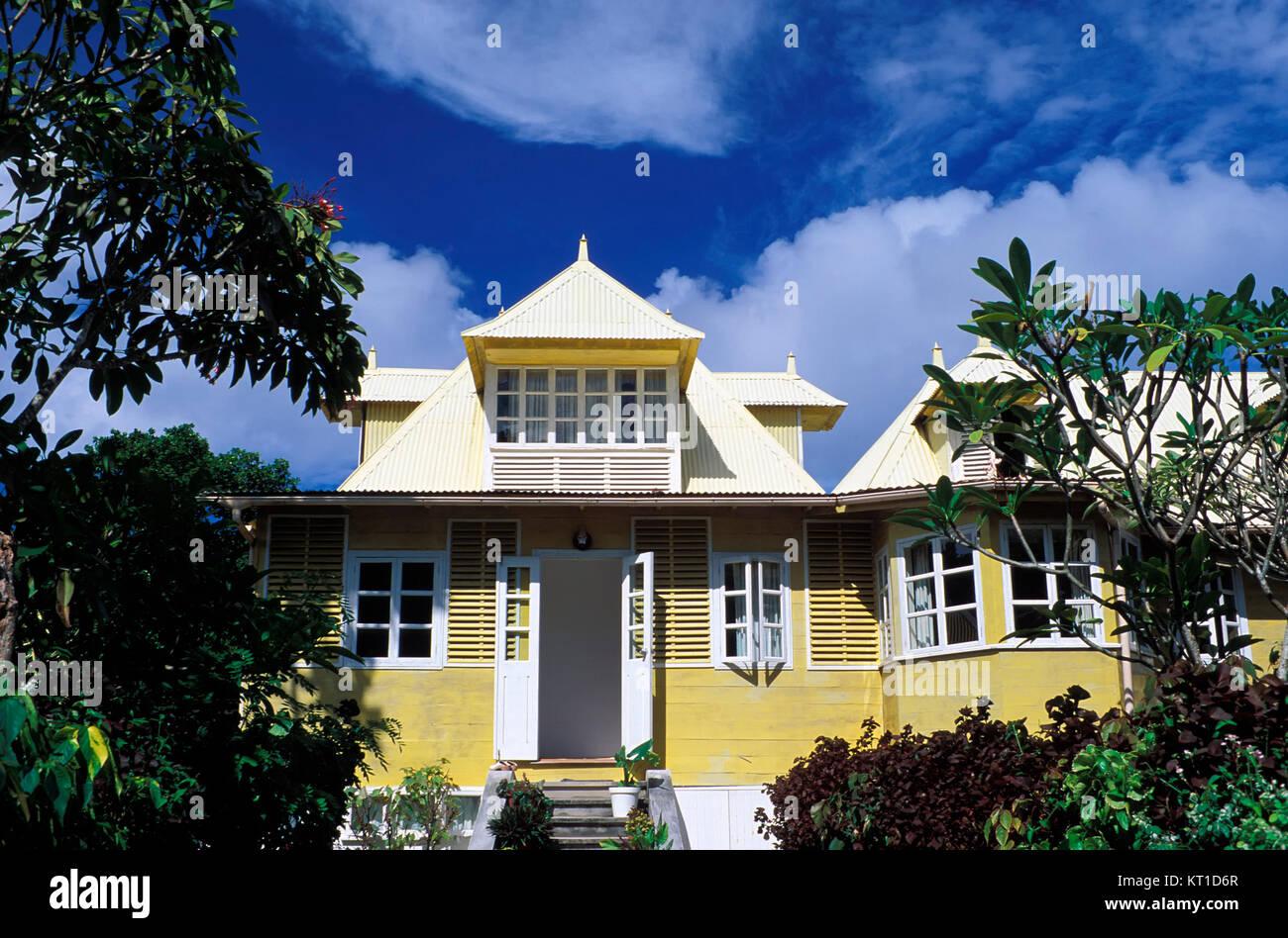 Hotel, La Digue island, Seychelles - Stock Image