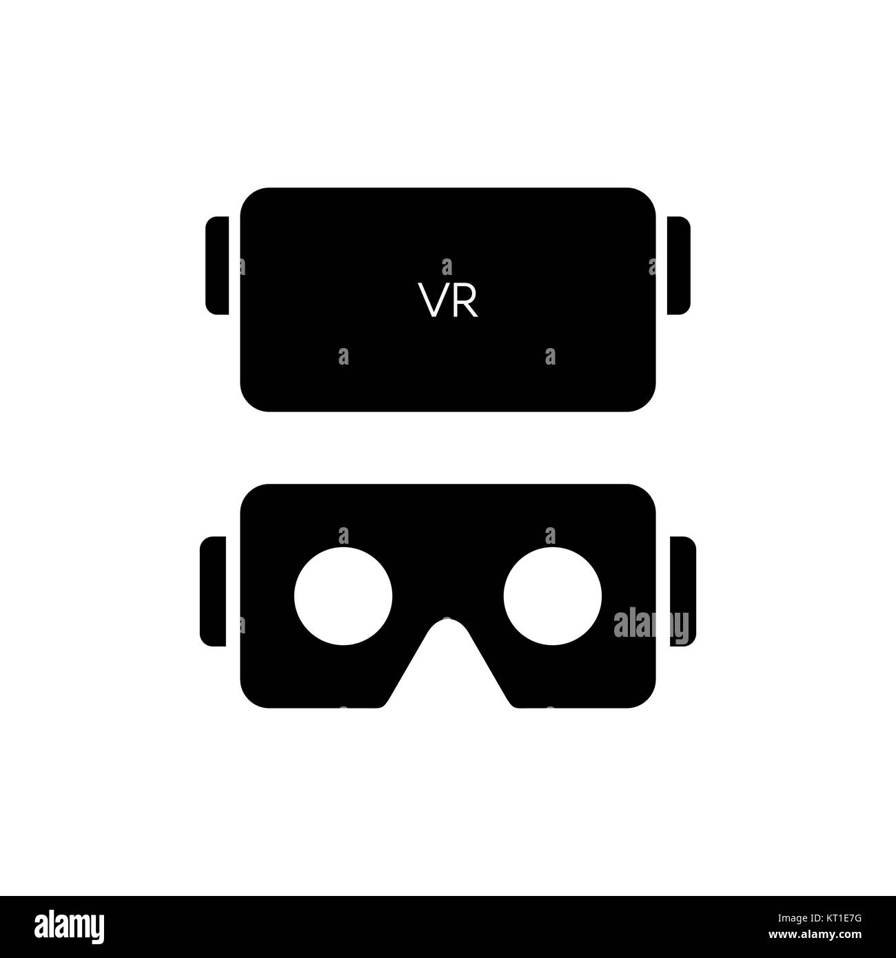 VR glasses for smartphone vector illustration. Virtual reality gear box for smartphone. - Stock Image