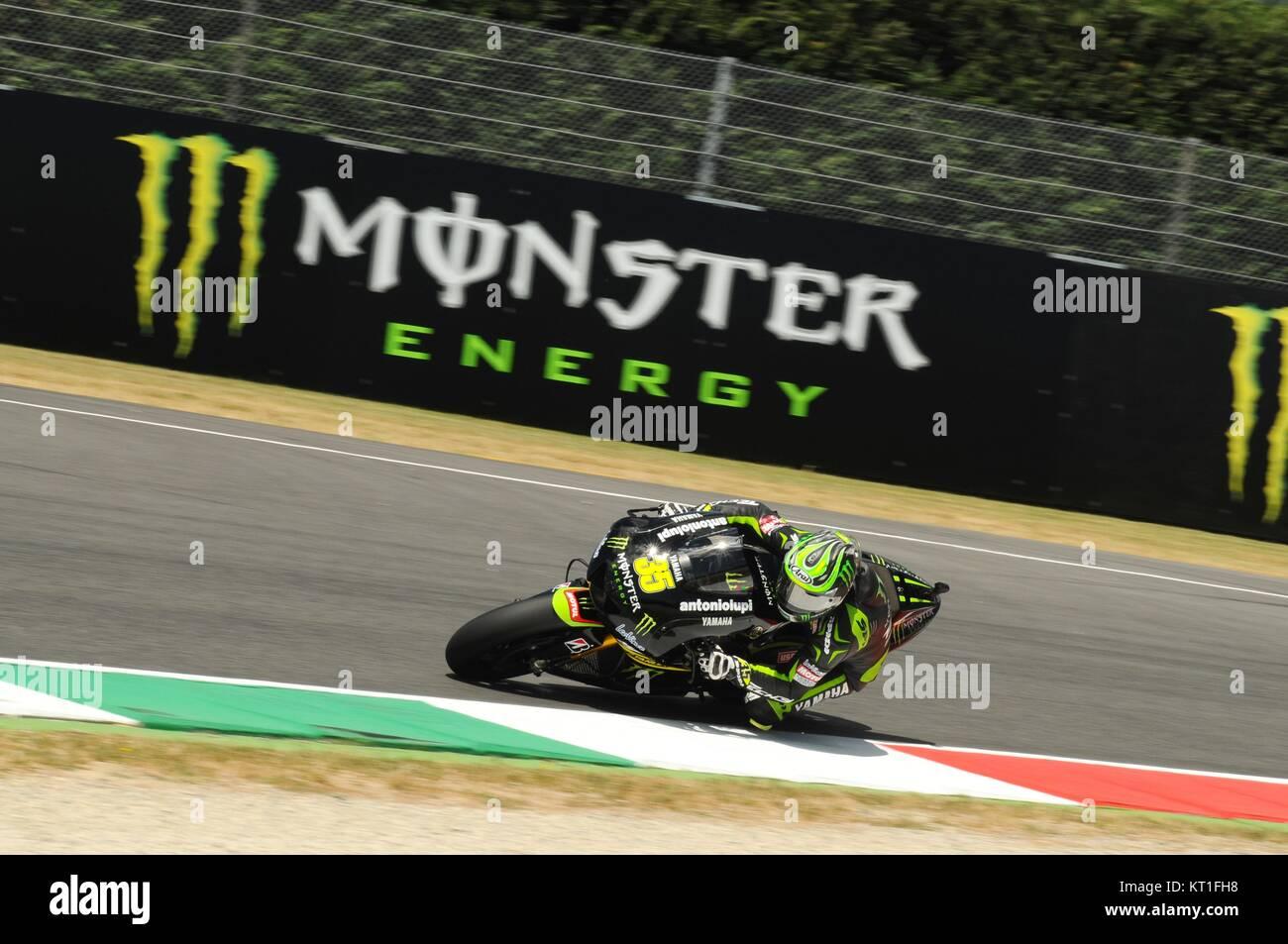 MUGELLO - ITALY, JULY 13, 2012: British Yamaha rider Cal Crutchlow during Qualify Session Grand Prix TIM of Italy - Stock Image