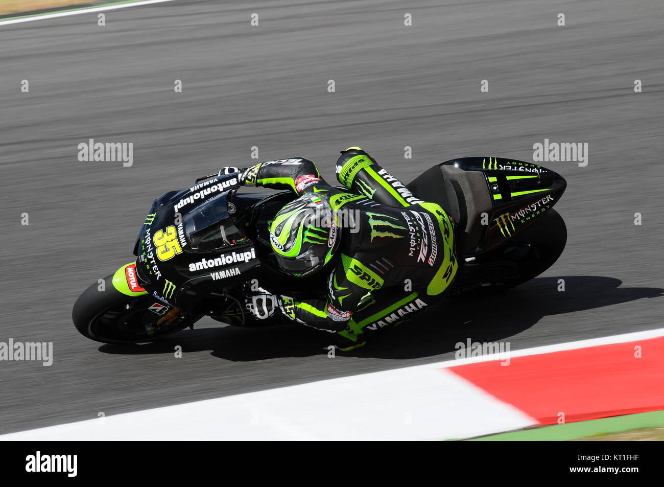 MUGELLO - ITALY, JULY 13, 2012: British Yamaha rider Cal Crutchlow during Qualify Session Grand Prix TIM of Italy - Stock Image