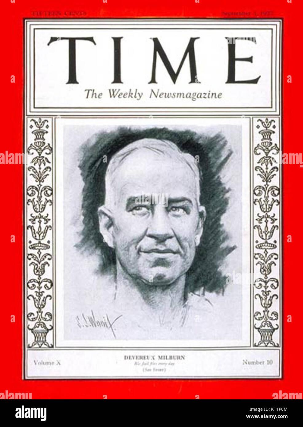 Devereux Milburn on Time Magazine - Stock Image