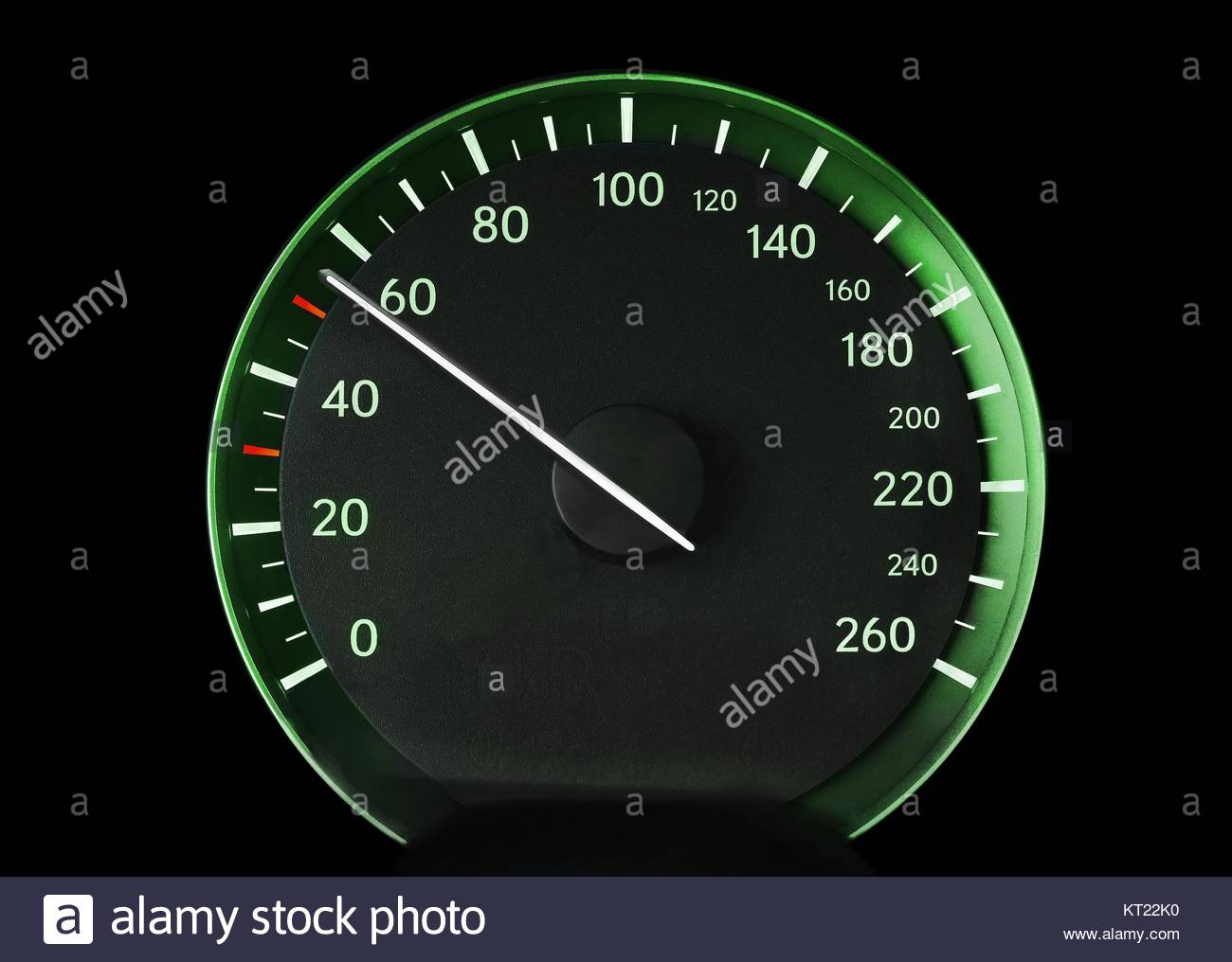 Speedometer of a car - Stock Image