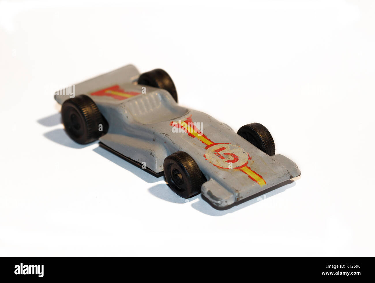 old toy car of metal - Stock Image