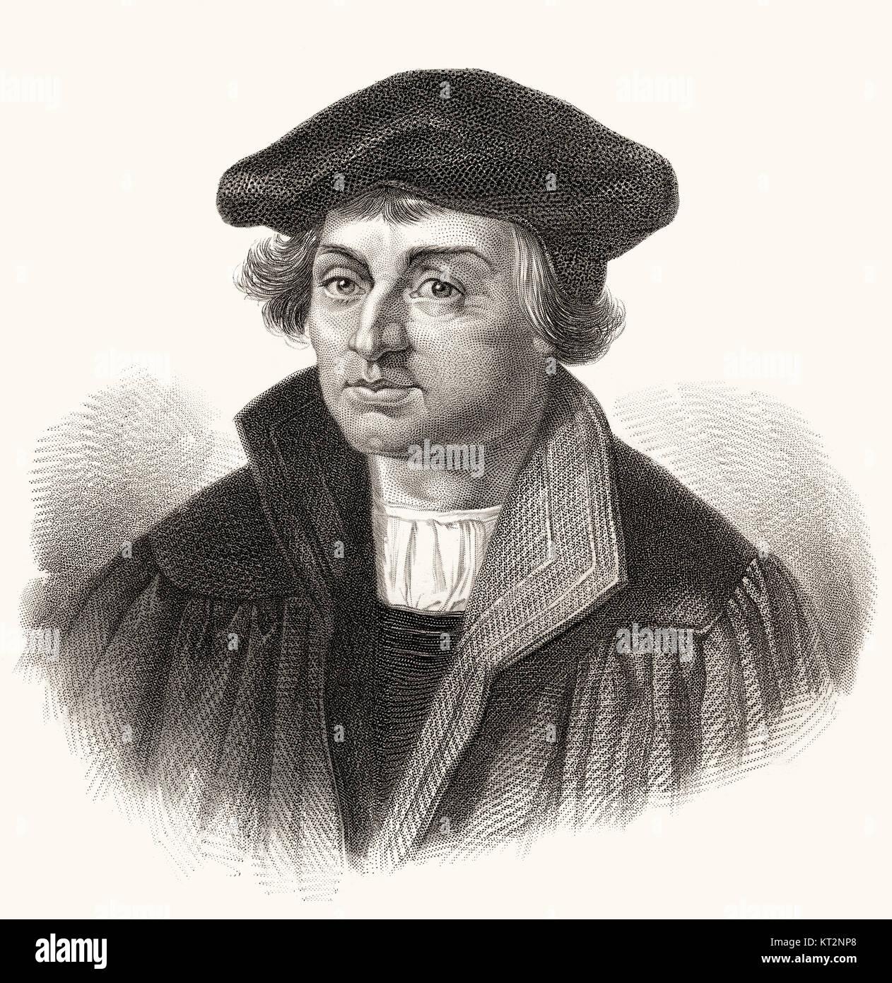 Johann Bugenhagen or Pomeranus or Dr. Pommer, 1485 - 1558, a German reformer Stock Photo
