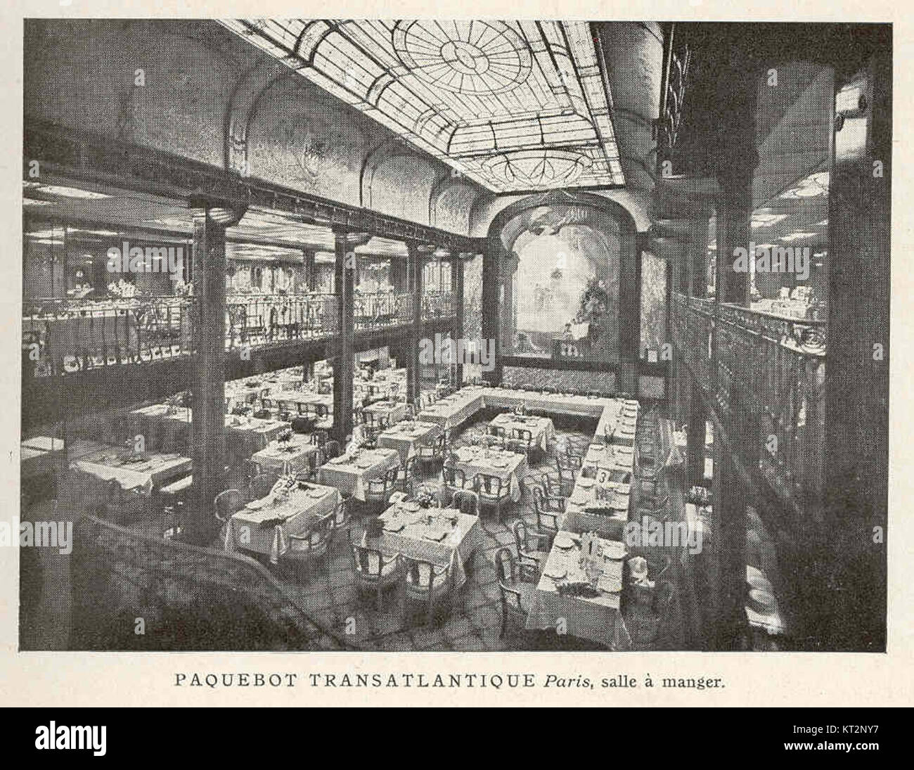 Salle A Manger Paris 37334 paquebot transatlantique paris, salle a manger stock