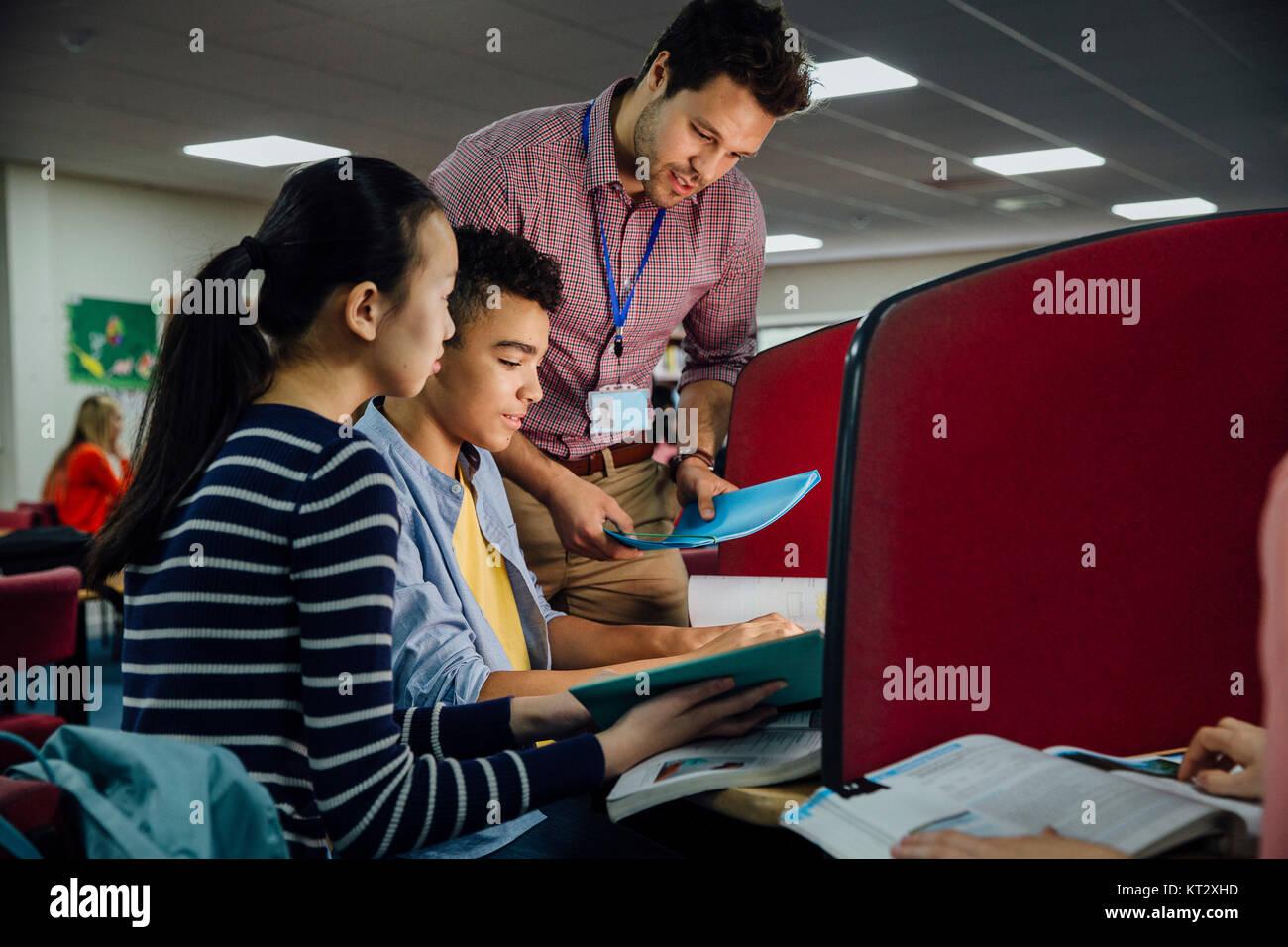 Classroom Computer Work Stock Photo