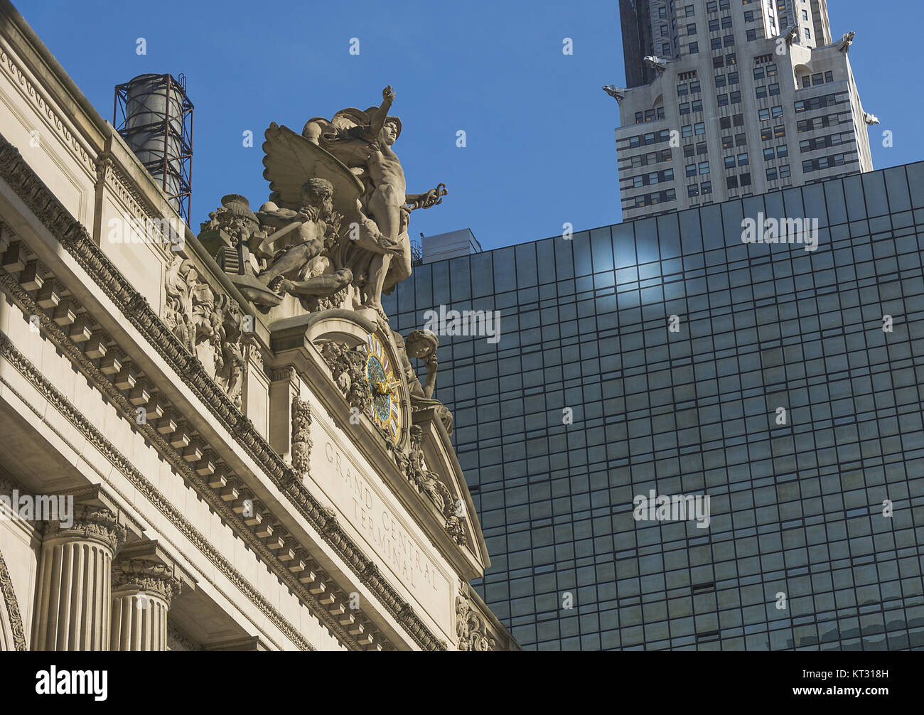 Exterior Clock of Grand Central Terminal Station in New York - Stock Image