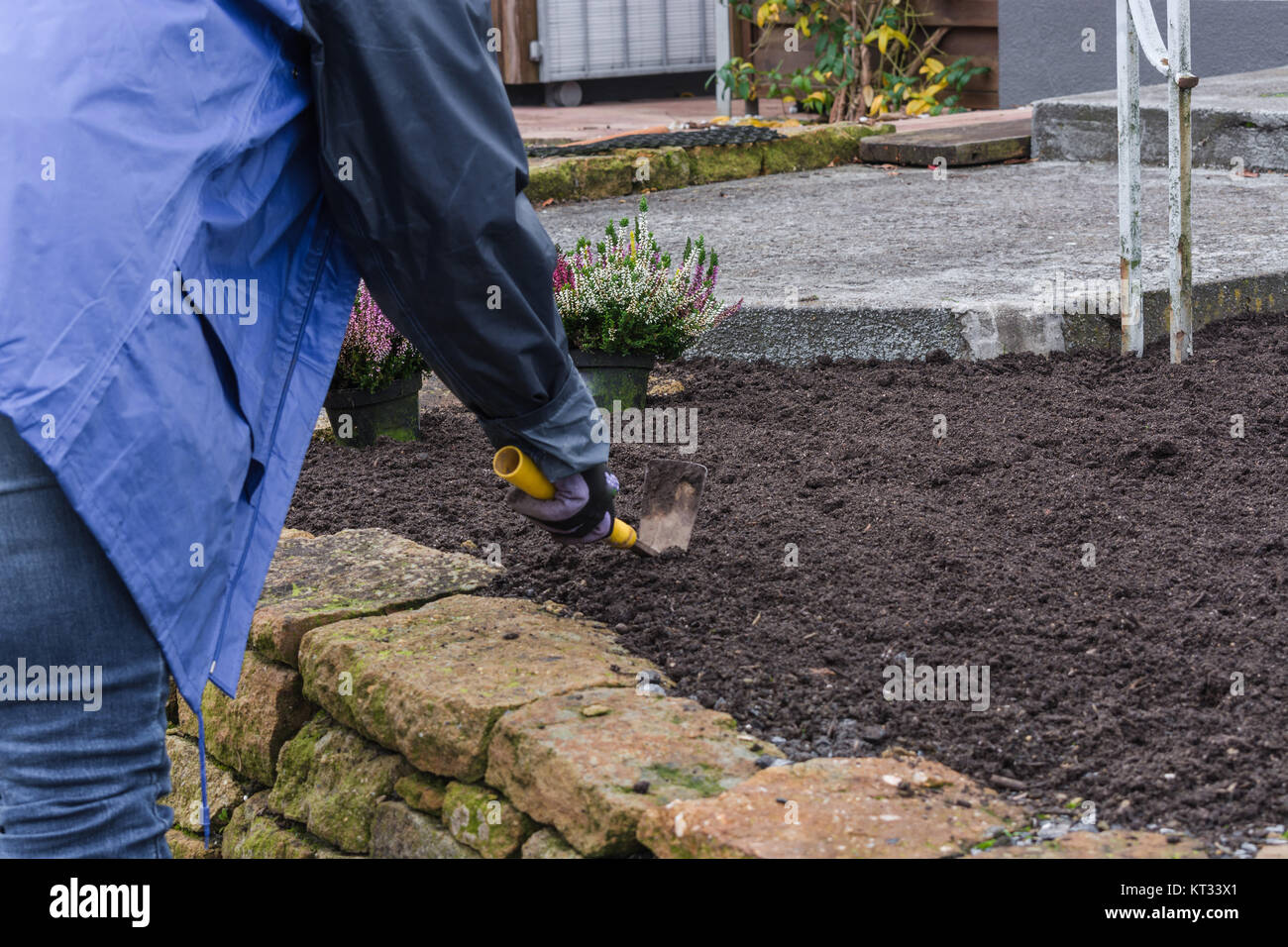 concept gardening is healthy. - Stock Image
