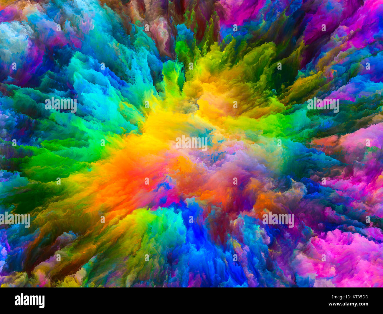 Computing Virtual Canvas - Stock Image