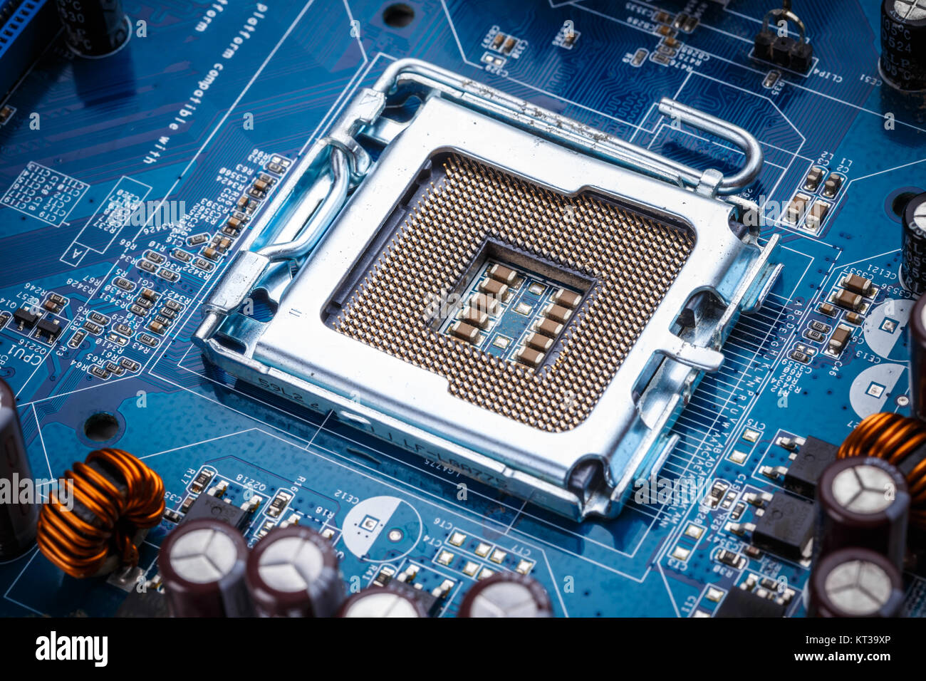 Microelectronic Device Stock Photos Electric Circuit Board Processor Tshirt Blue Electronic Image
