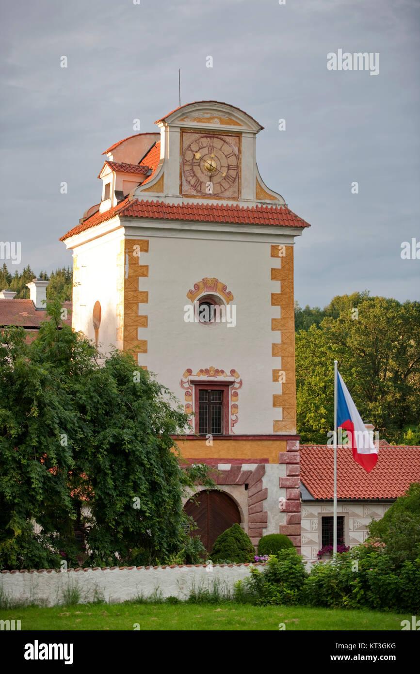Tschechien, Südböhmen, Netolice, Schloss Kratochvíle (deutsch Schloss Kurzweil) - Stock Image