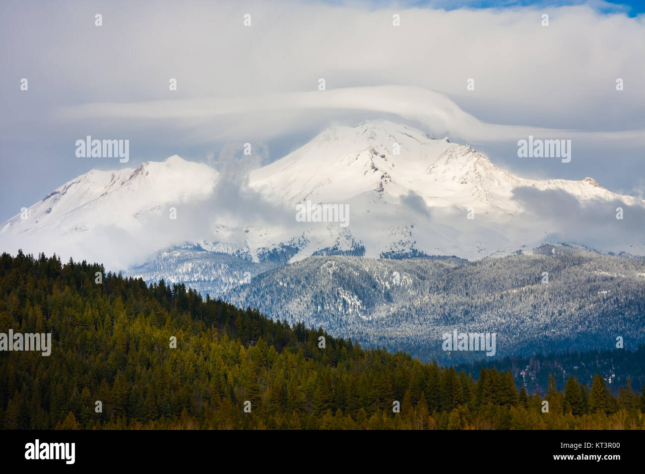 Mount Shasta in Northern California - Stock Image