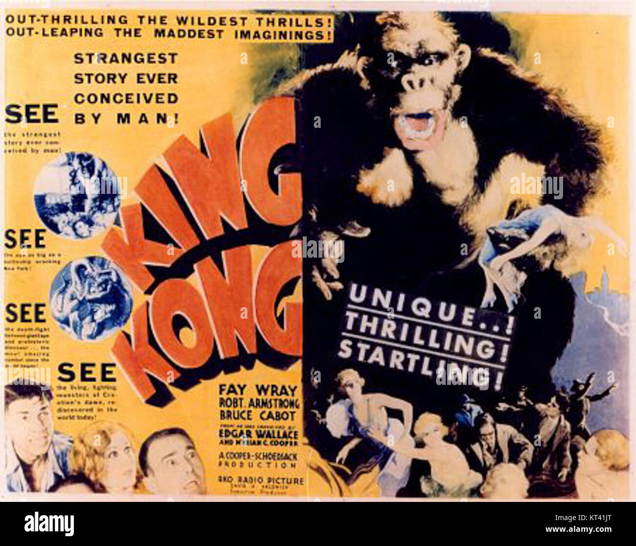 King Kong 1933 Movie Poster 2 Stock Photo 169734176 Alamy