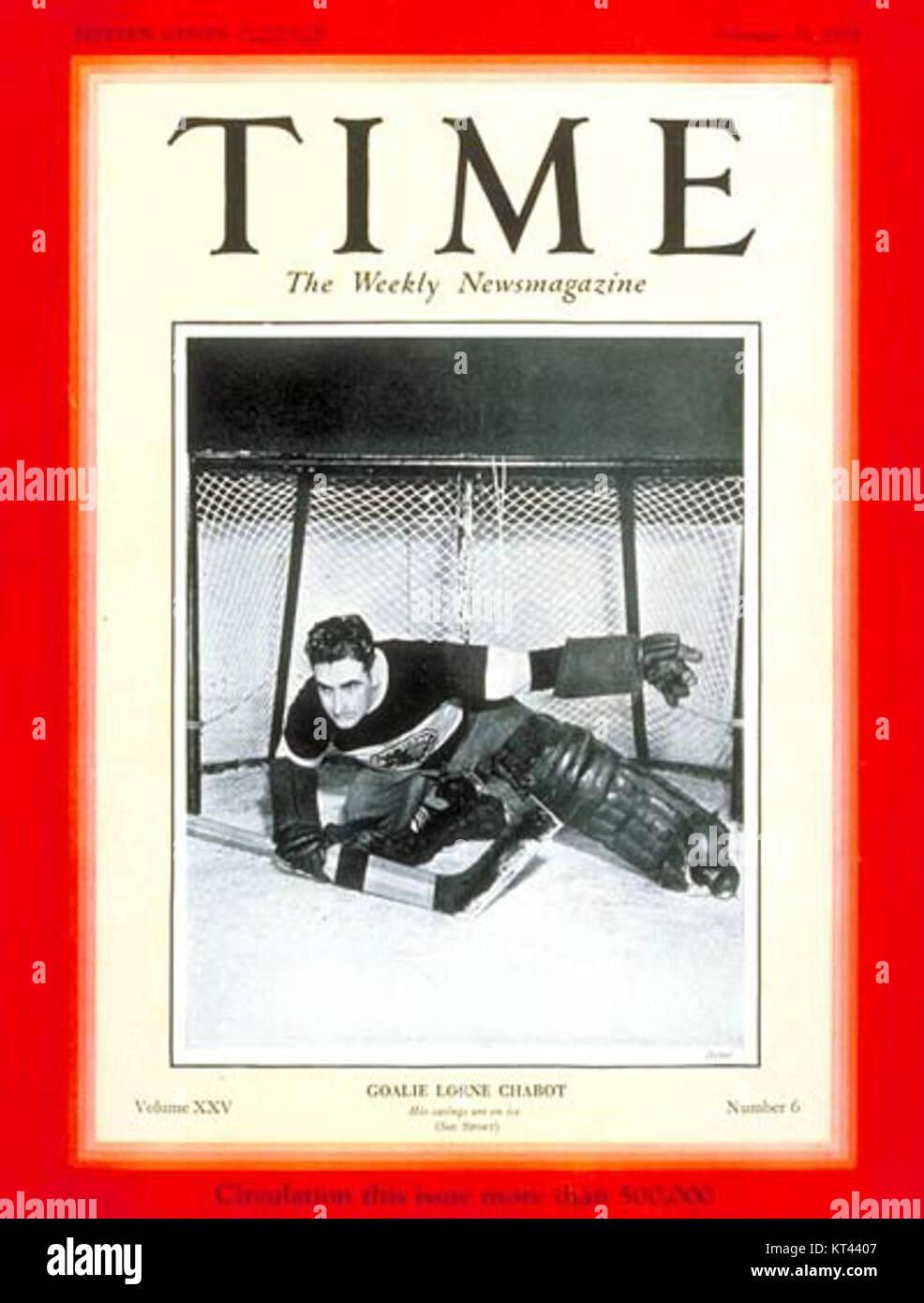 Lorne chabot time magazine - Stock Image