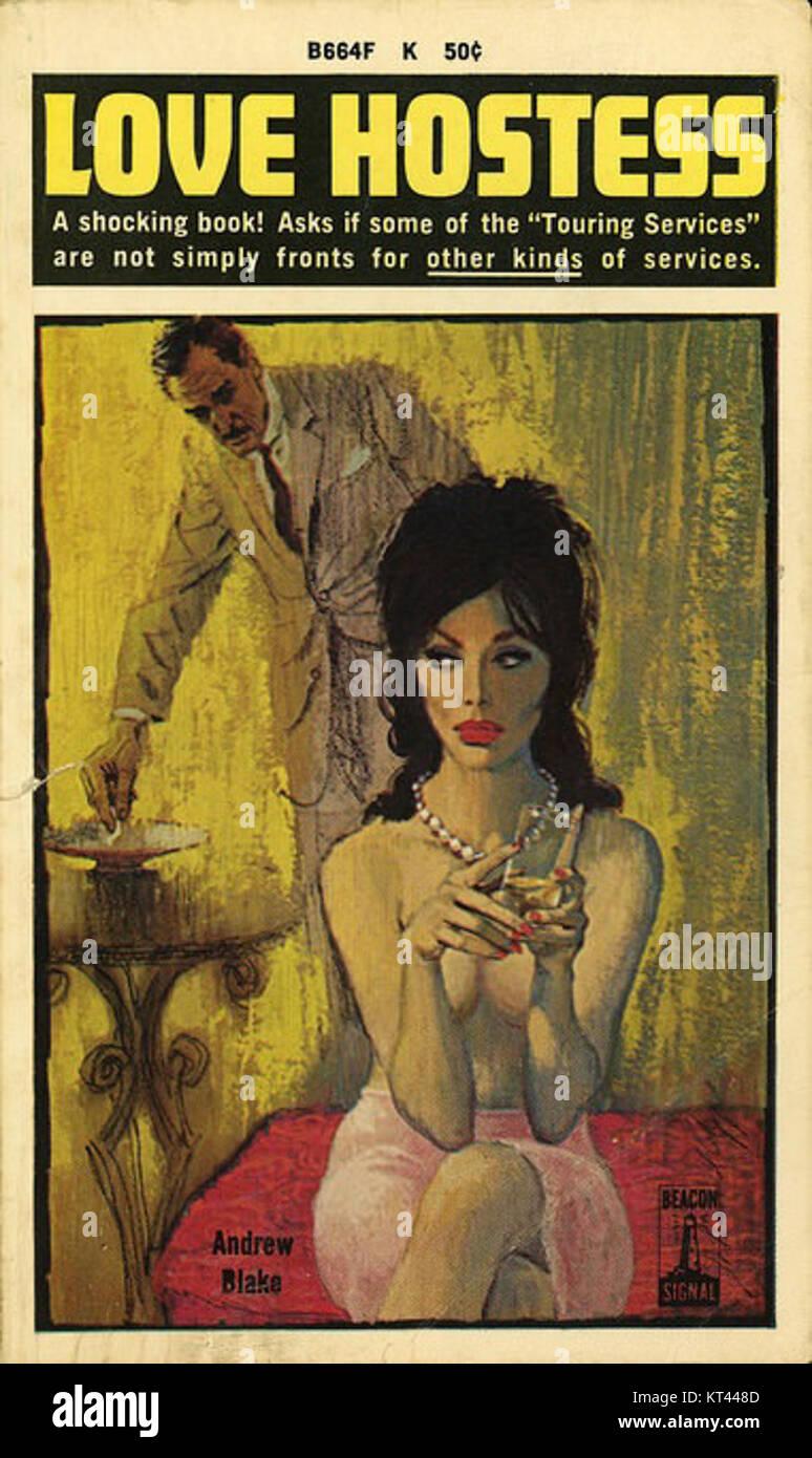 Love Hostess by Andrew Blake - Illustration by Ray App - Beacon Book B664F 1963 Stock Photo