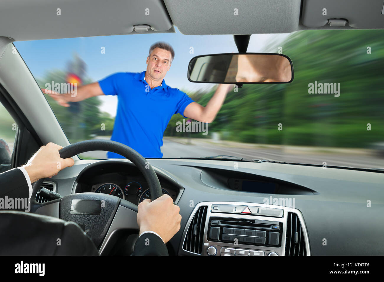 Car Accident On Road - Stock Image