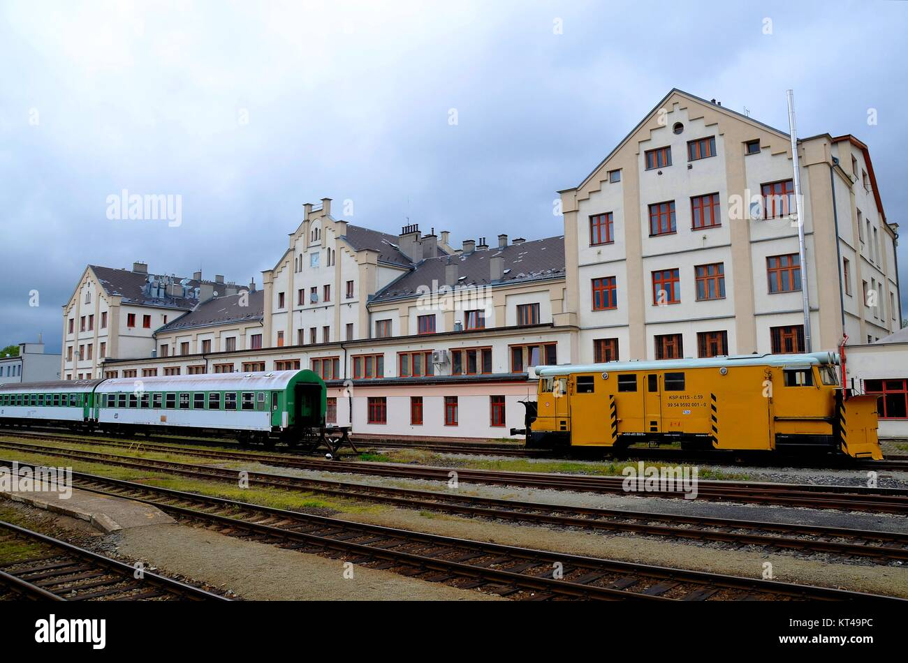 In the town of Liberec (Reichenberg) in the Czech Republic: the railway station - Stock Image