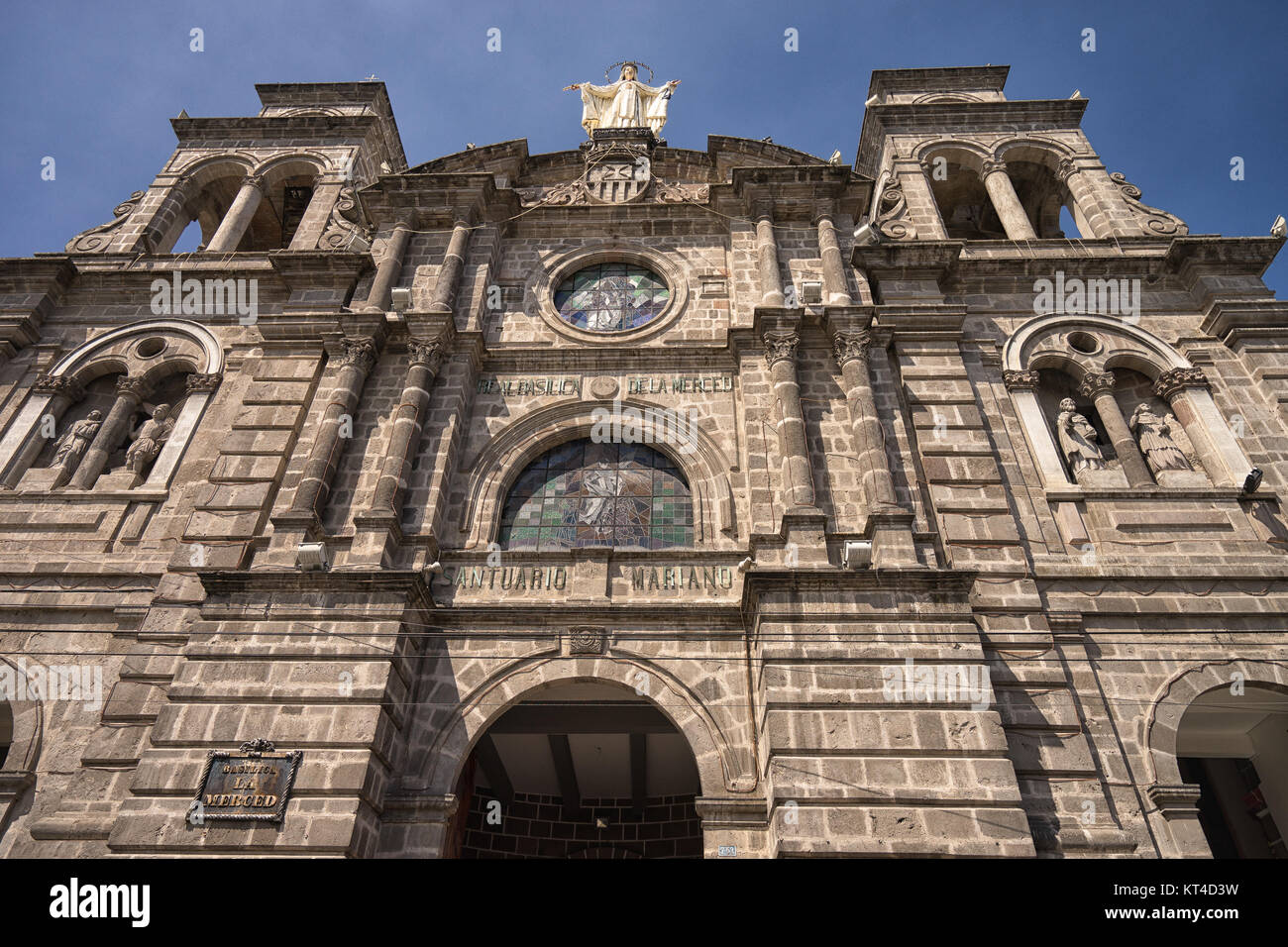 the Merced basilica in Ibarra historic center - Stock Image