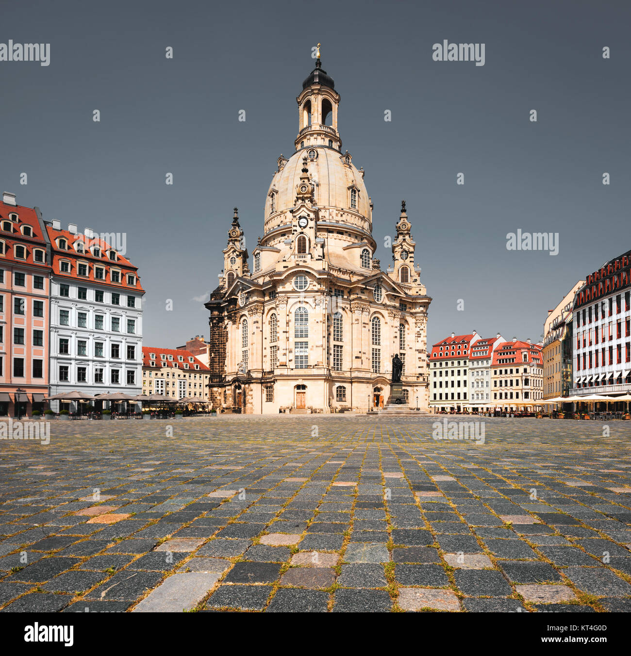 Frauenkirche in Dresden, Saxony, Germany, toned image - Stock Image