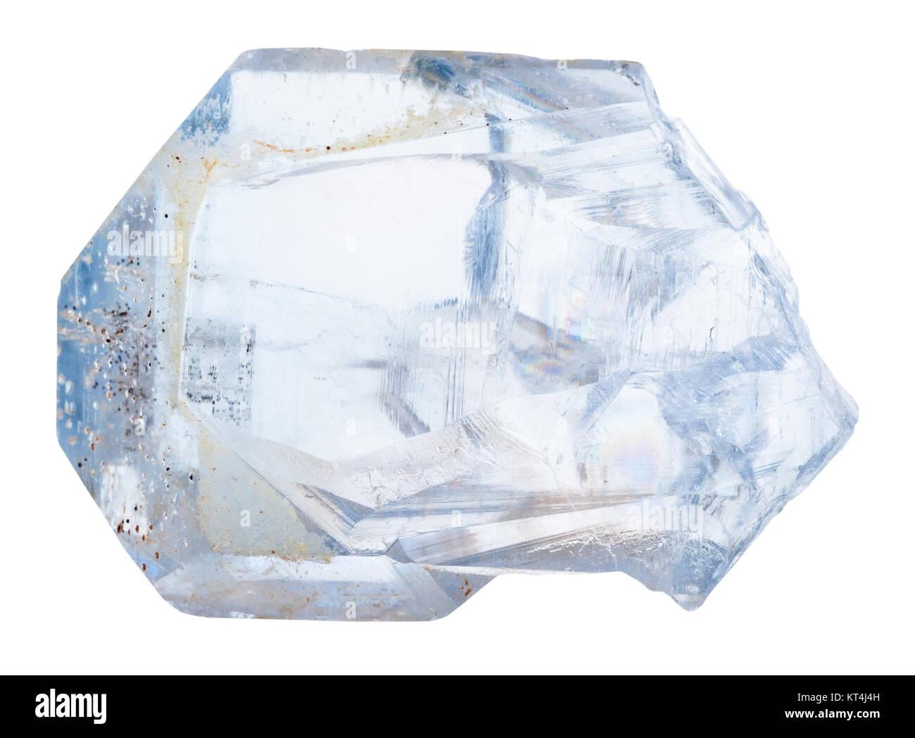 crystal of celestine rock isolated - Stock Image