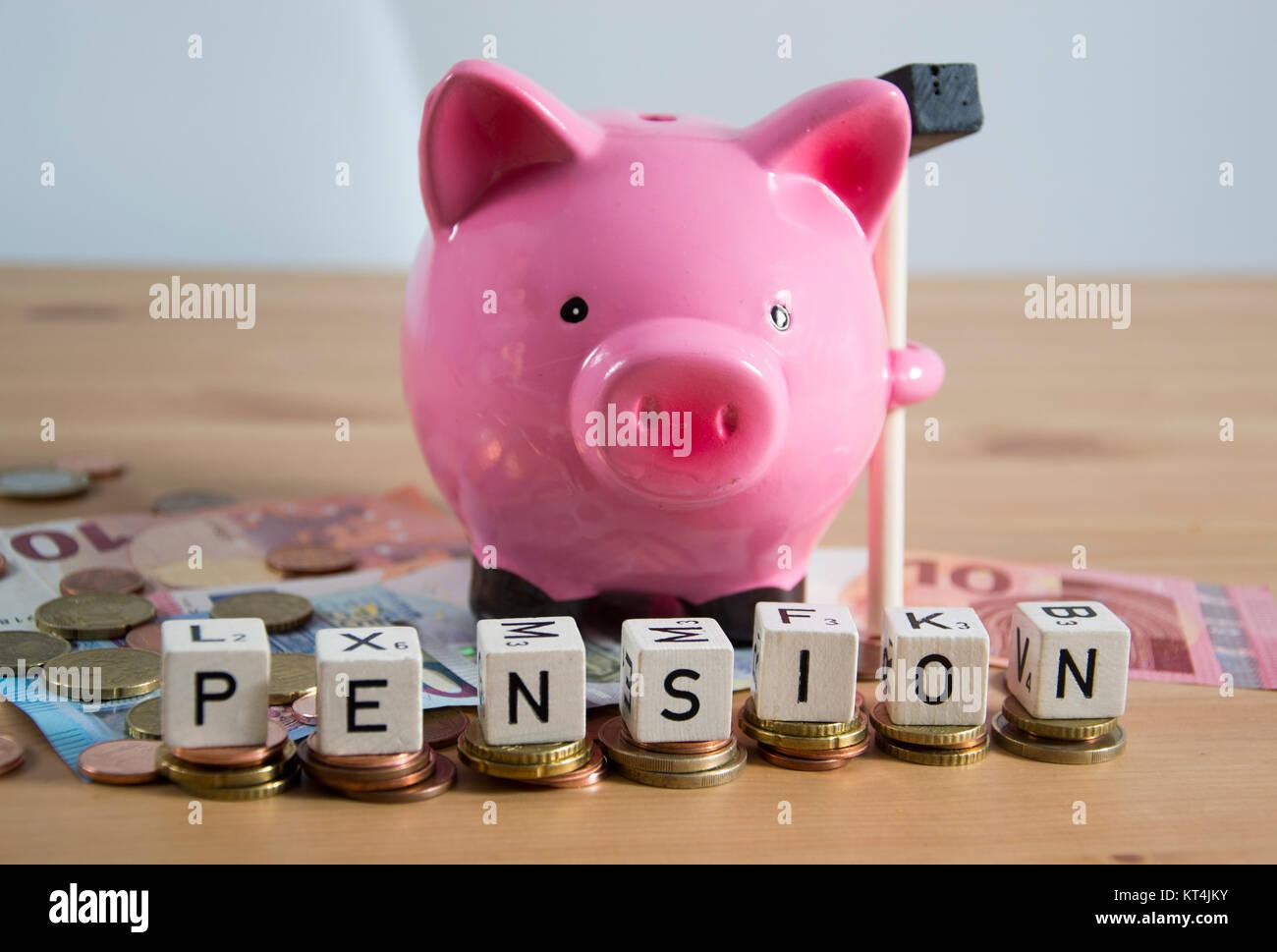 Symbolfoto für Rente Stock Photo