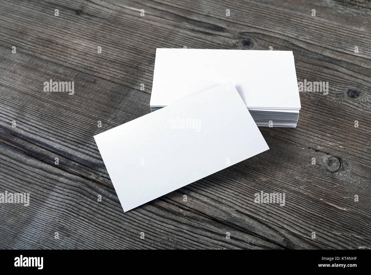Blank business cards - Stock Image