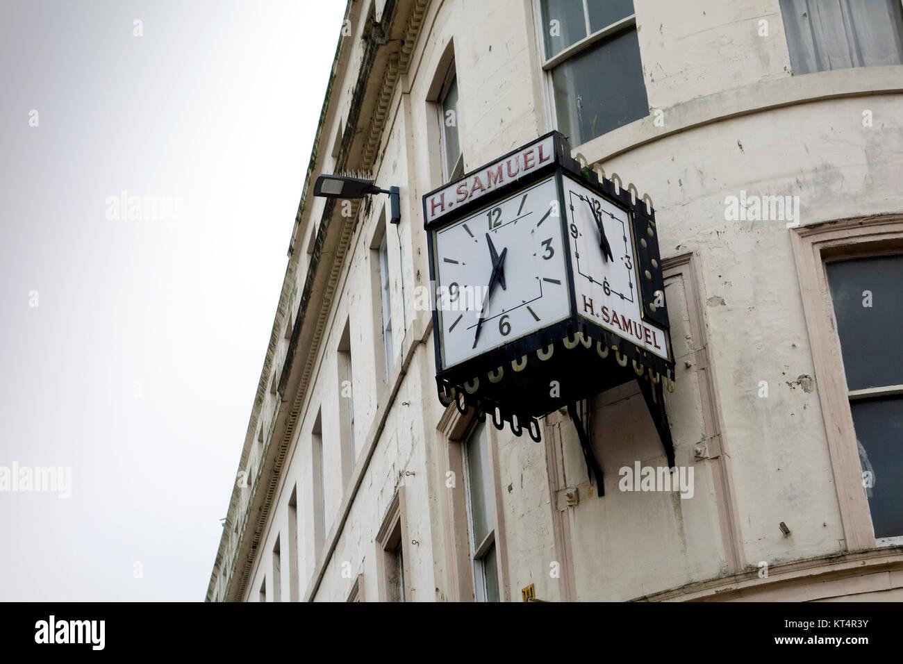 H. Samuel Clock, Dundee, Scotland - Stock Image
