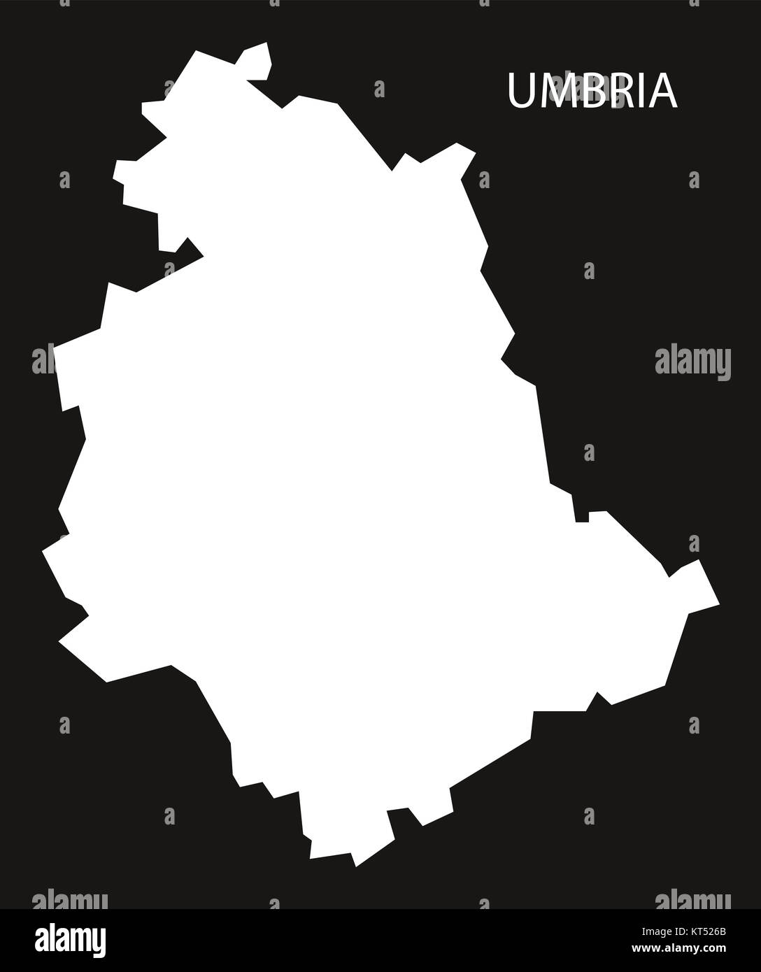 Umbria Italy Map Black Inverted Silhouette Stock Photo 169756563