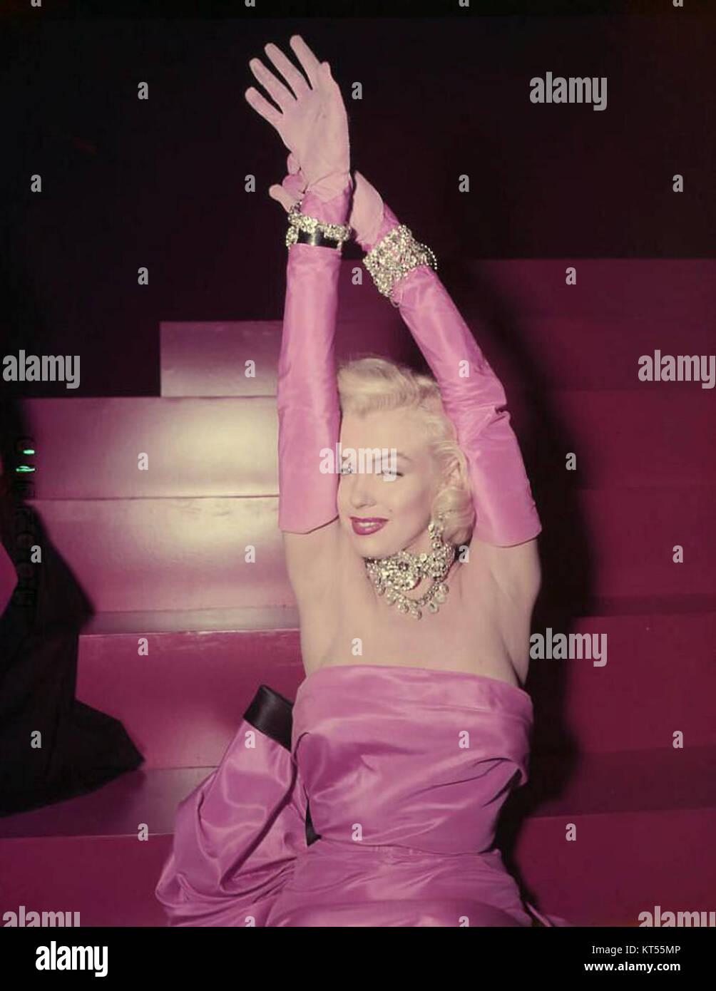 Monroe in a publicity shot for Gentlemen Prefer Blondes - Stock Image