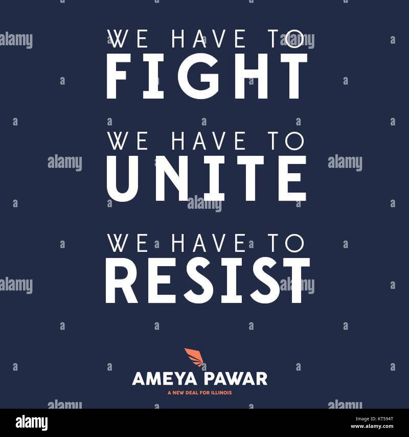 Ameya Pawar we have to fight we have to unite we have to resist 17458406 1372399839486579 8410740242036679703 n - Stock Image