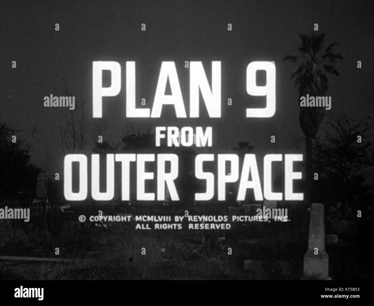 Plan 9 from Outer Space (title screen) - Stock Image