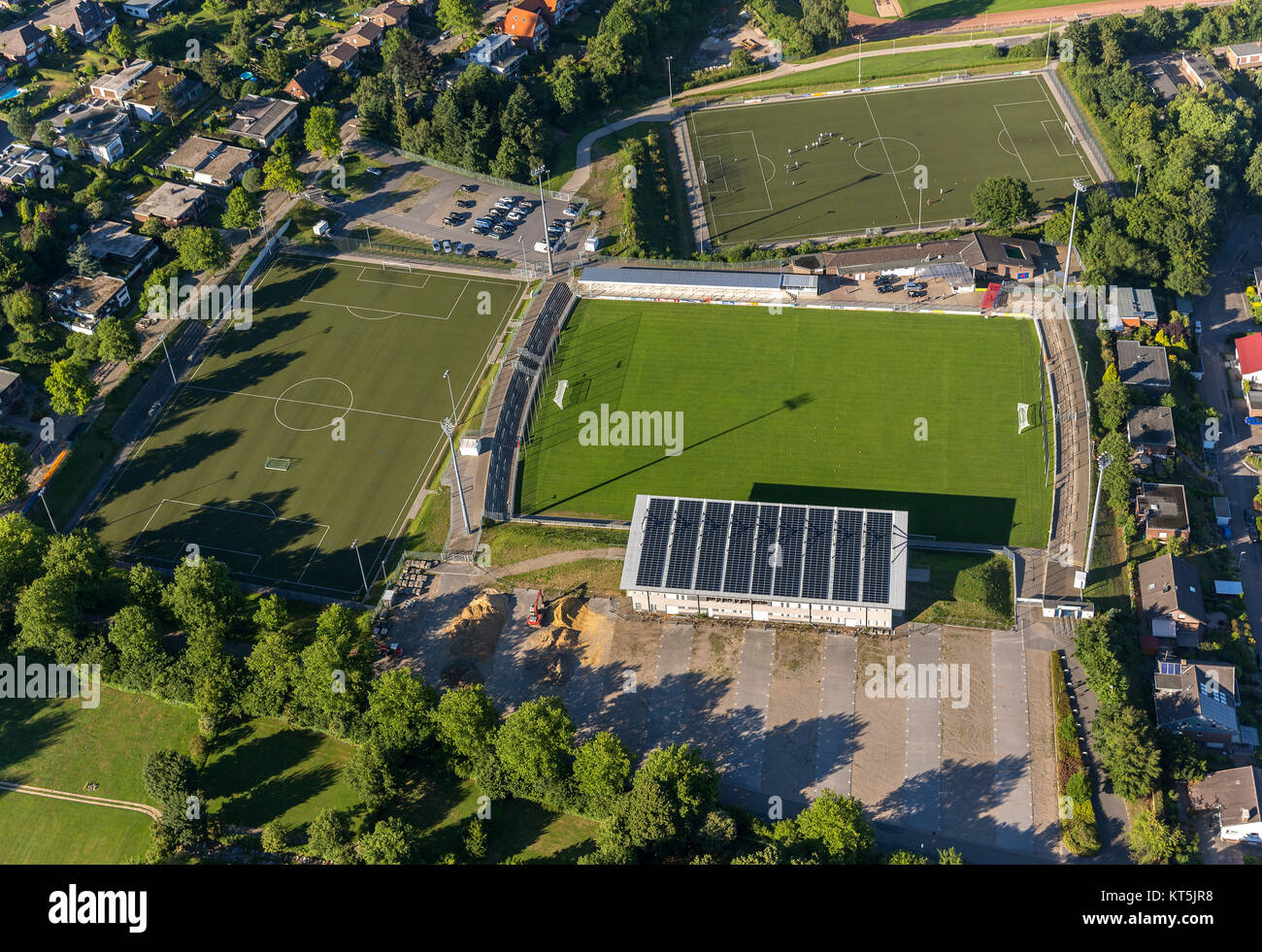 Gustav Hoffmann Stadium, Kleve, Lower Rhine, North Rhine-Westphalia, Germany, Europe, Kleve, Lower Rhine, North - Stock Image