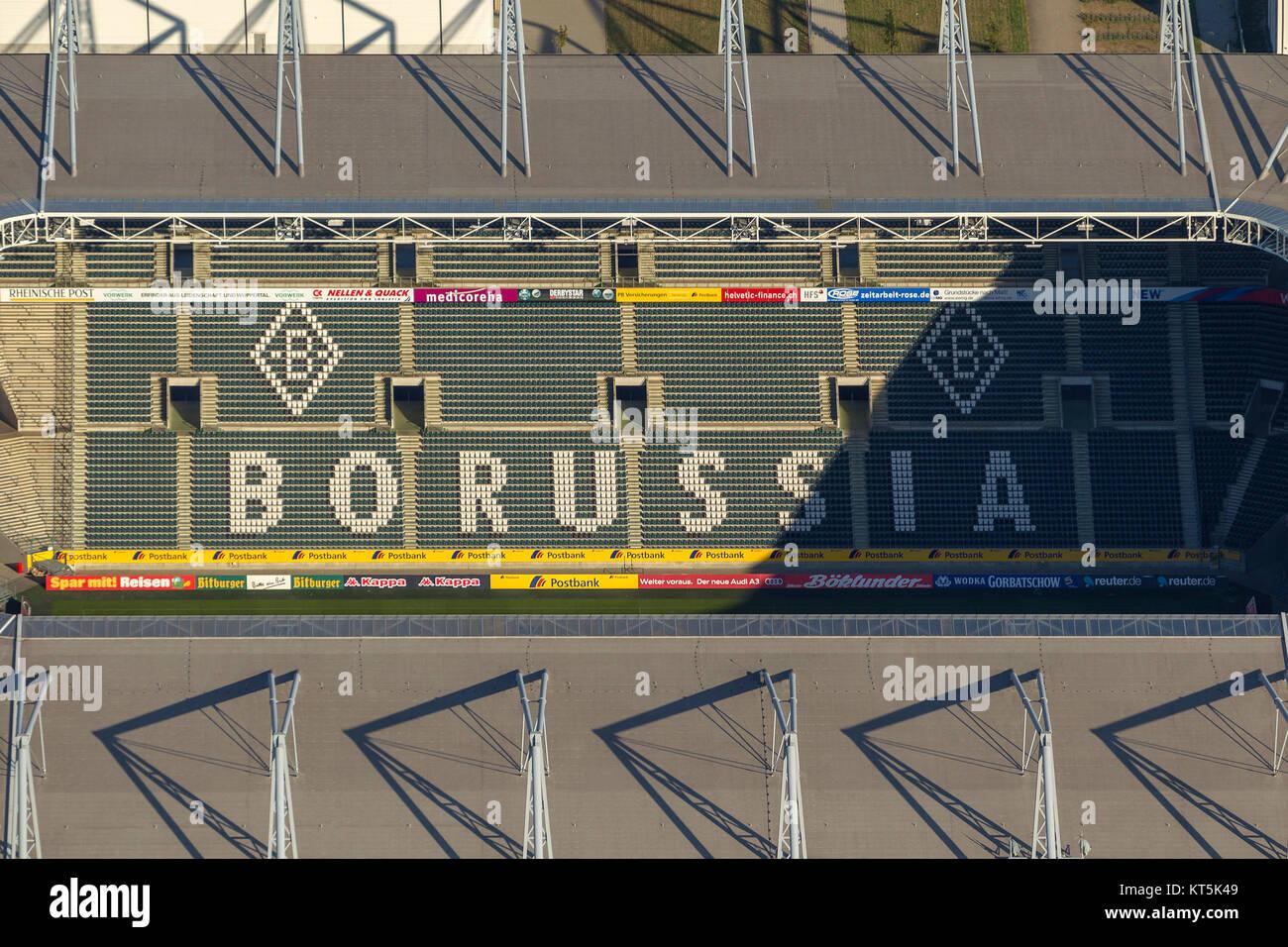 Borussia-Park, the stadium of Borussia Mönchengladbach, Bundesliga football, Moenchengladbach, Lower Rhine, - Stock Image