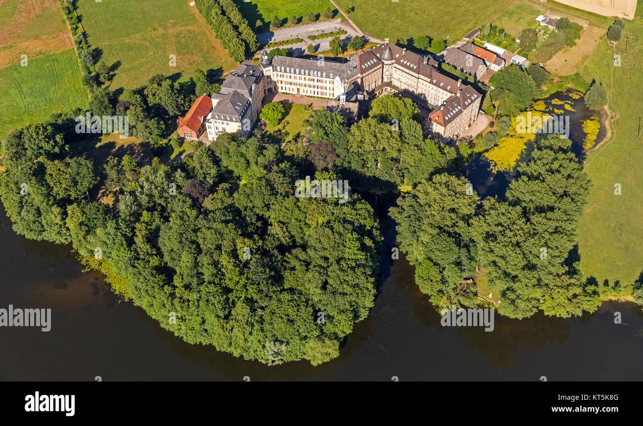 extensive monasteries near Rees, monastic community Haus Aspel, COMMUNITY of the daughters of St. Cross, Irmgard - Stock Image