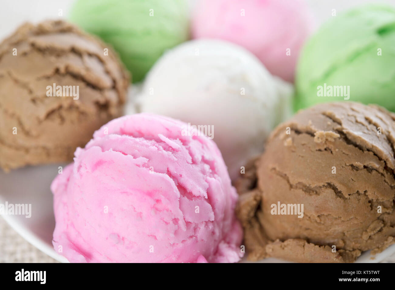 Close up assorted ice cream collection Stock Photo: 169774356 - Alamy