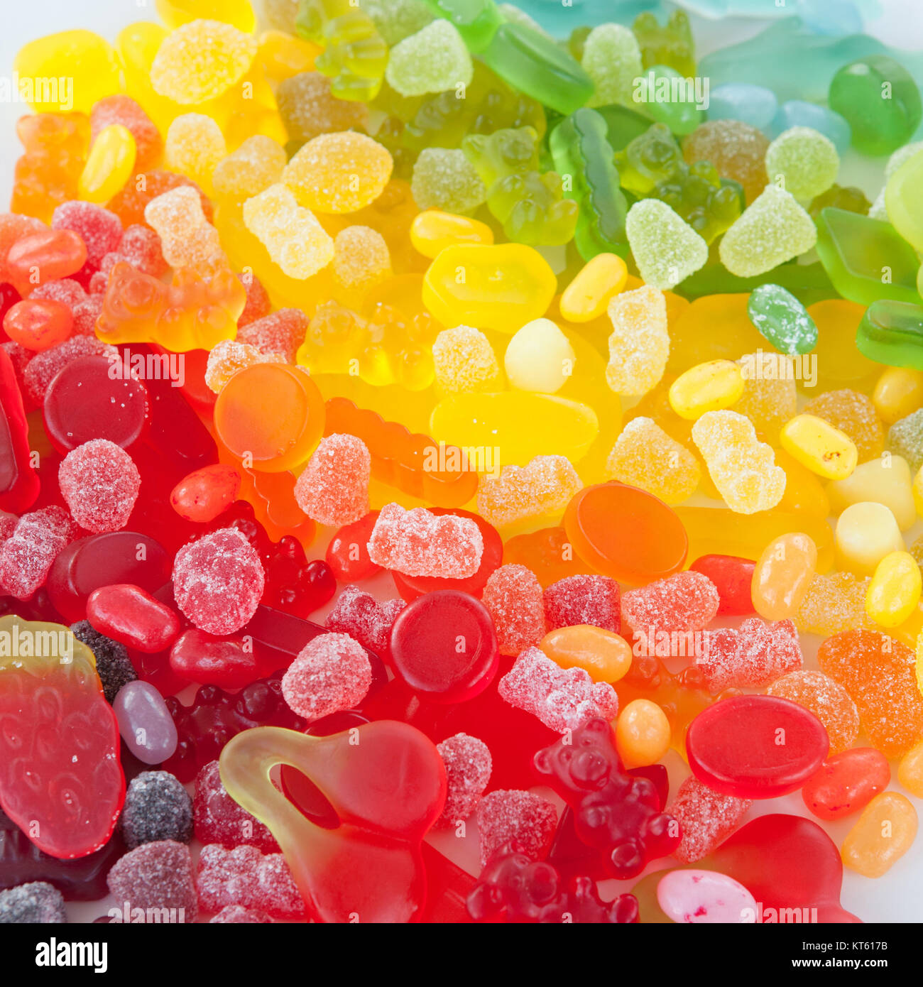 colorful fruit jelly - Stock Image