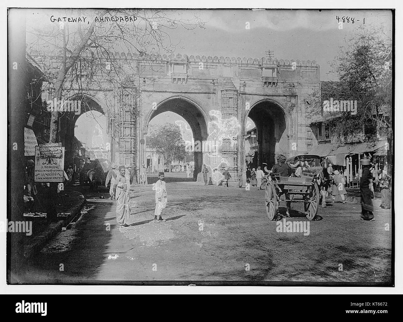 Teen Darwaza, Gateway, Ahmedabad  (31479977313) - Stock Image
