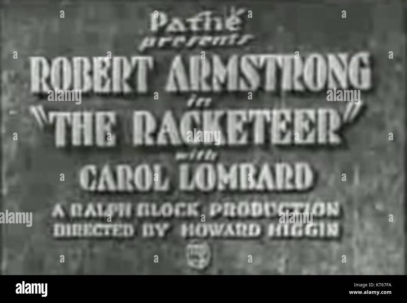The Racketeer credits - Stock Image