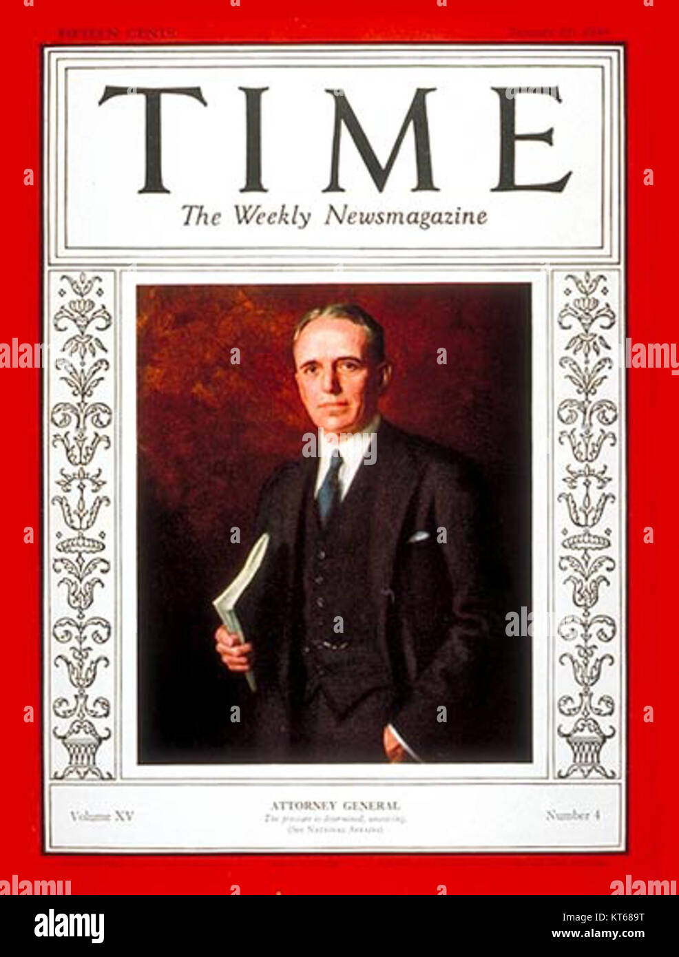 Time-magazine-cover-william-mitchell - Stock Image