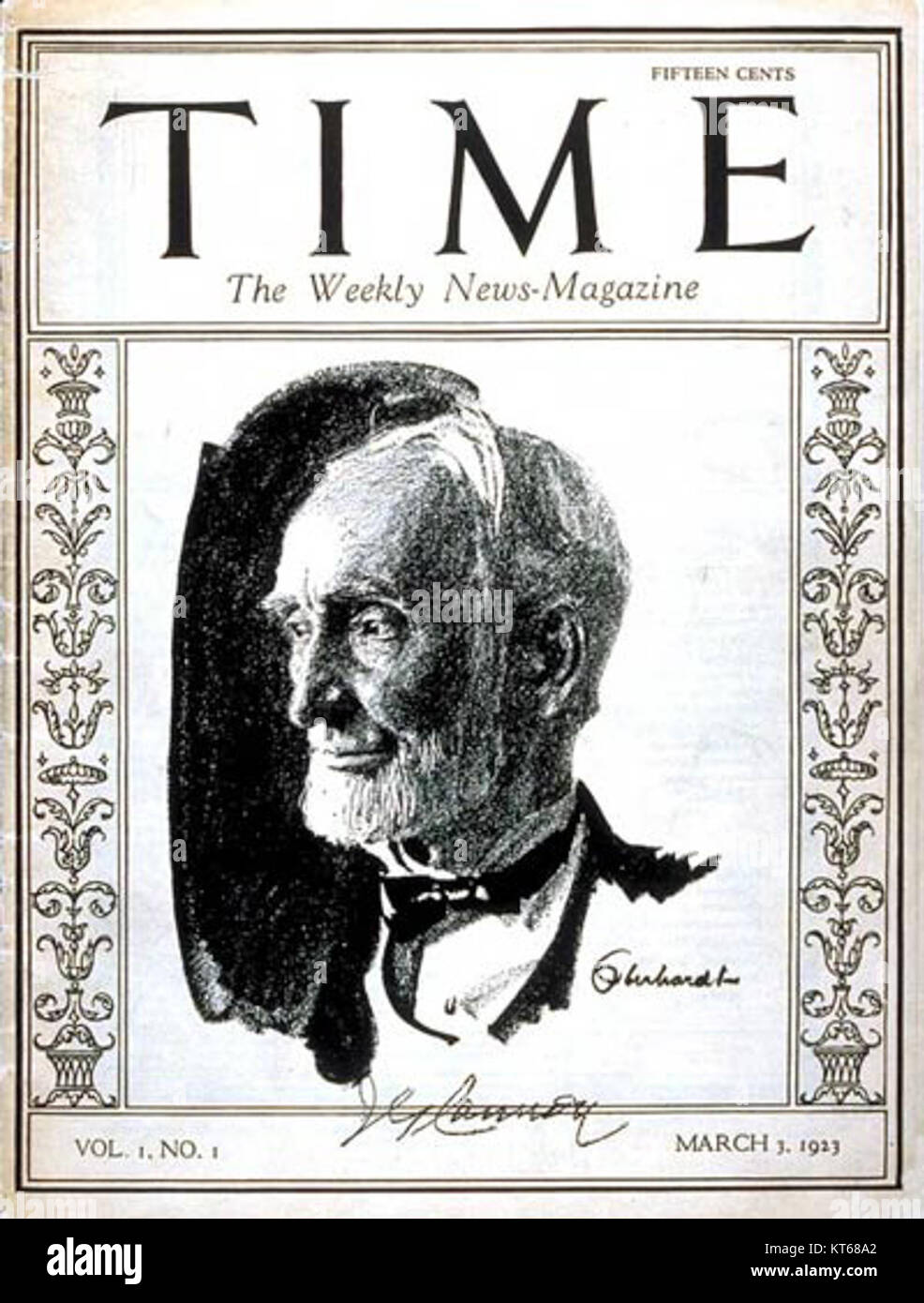 Time Magazine - first cover - Stock Image