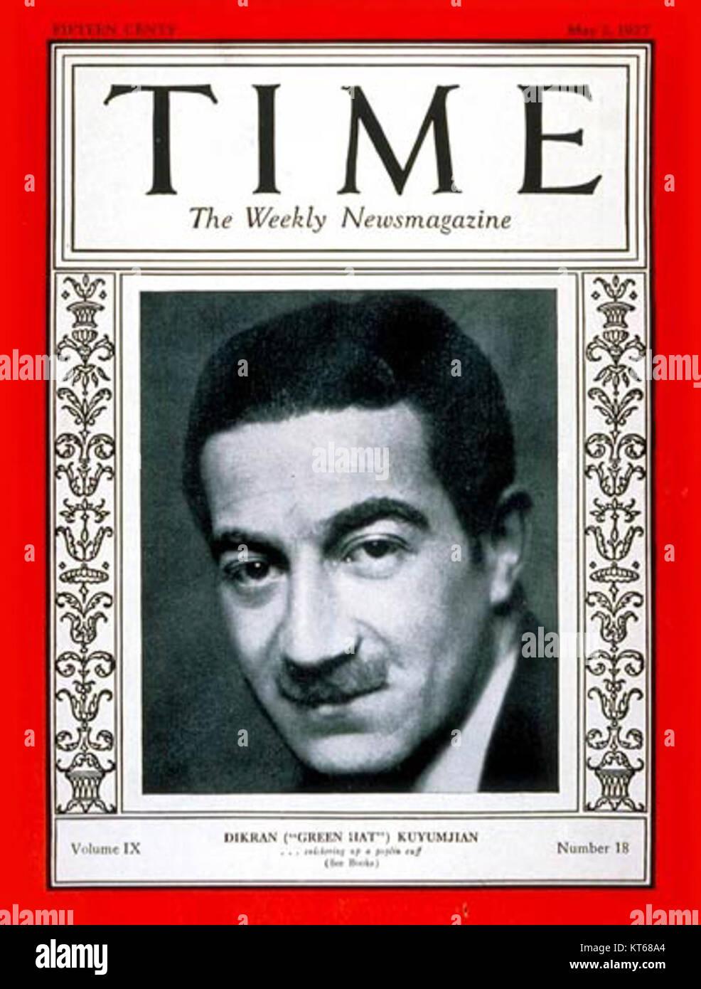 Time-magazine-cover-michael-arlen - Stock Image
