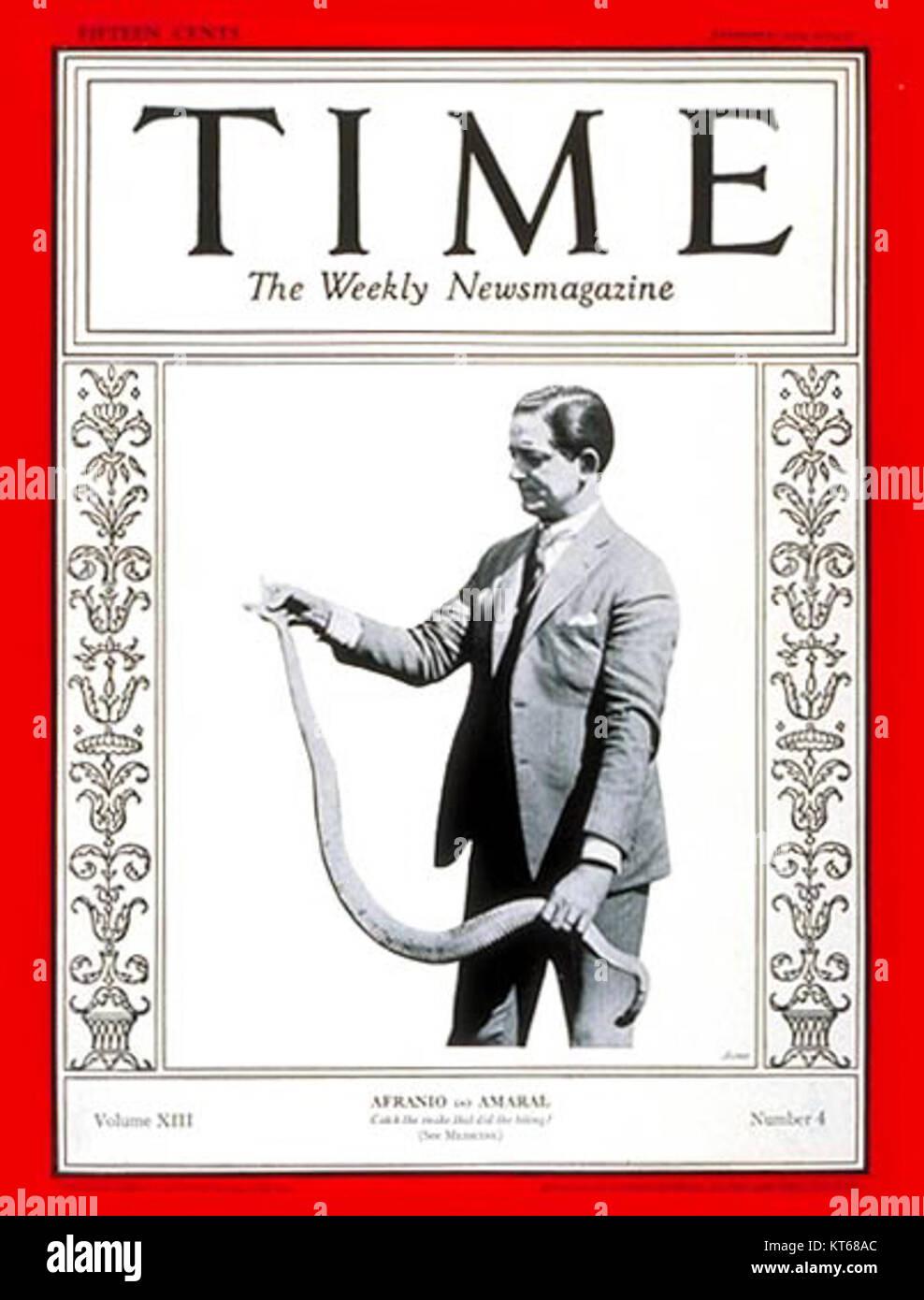 Time Magazine - Afranio do Amaral - Stock Image