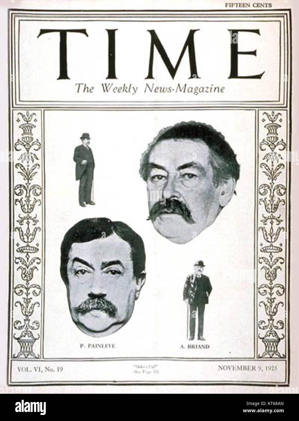 Time Magazine - Paul Painleve - Stock Image